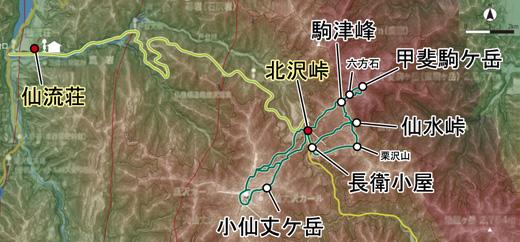 登山部 甲斐駒ケ岳 map (10)