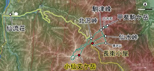 登山部 甲斐駒ケ岳 map (12)