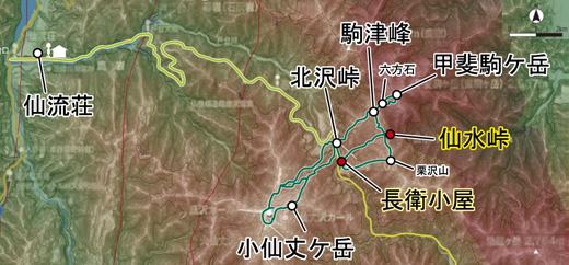 登山部 甲斐駒ケ岳 map (13)