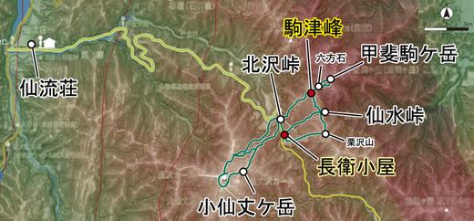 登山部 甲斐駒ケ岳 map (14)
