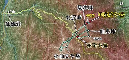 登山部 甲斐駒ケ岳 map (15)