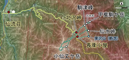 登山部 甲斐駒ケ岳 map (16)